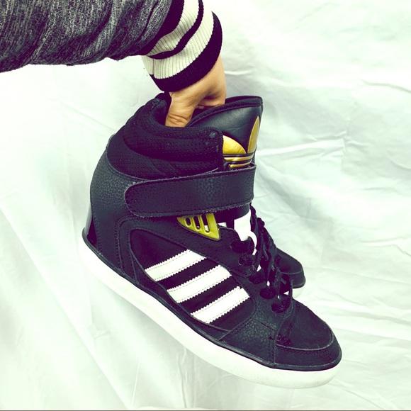 huge discount faefe 8e1e0 adidas Shoes - Adidas Amberlight Up Hi Top Retro Wedge Sneakers
